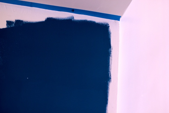 Painting the Blue Wall
